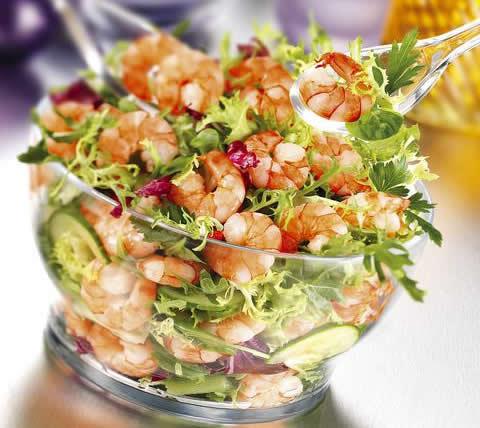 Лучшие рецепты салатов с креветками с фото