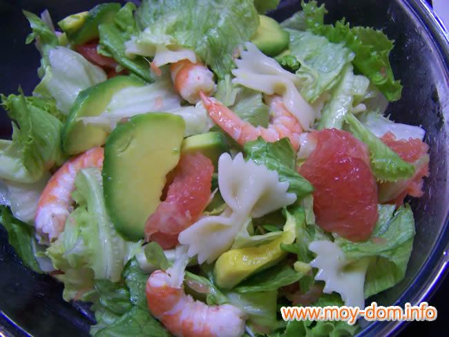 креветки в салате рецепты