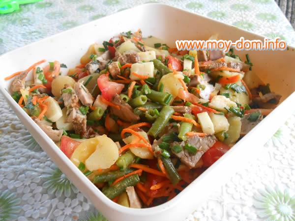 рецепт салата с морским миксом