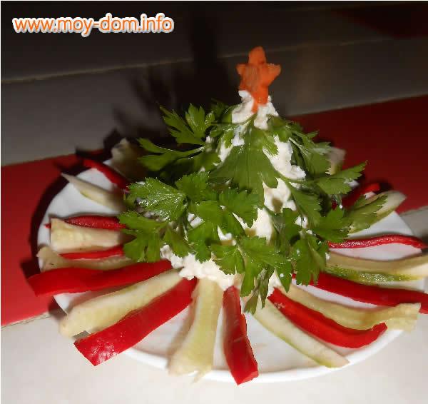 Трафареты для украшения салатов на новый год