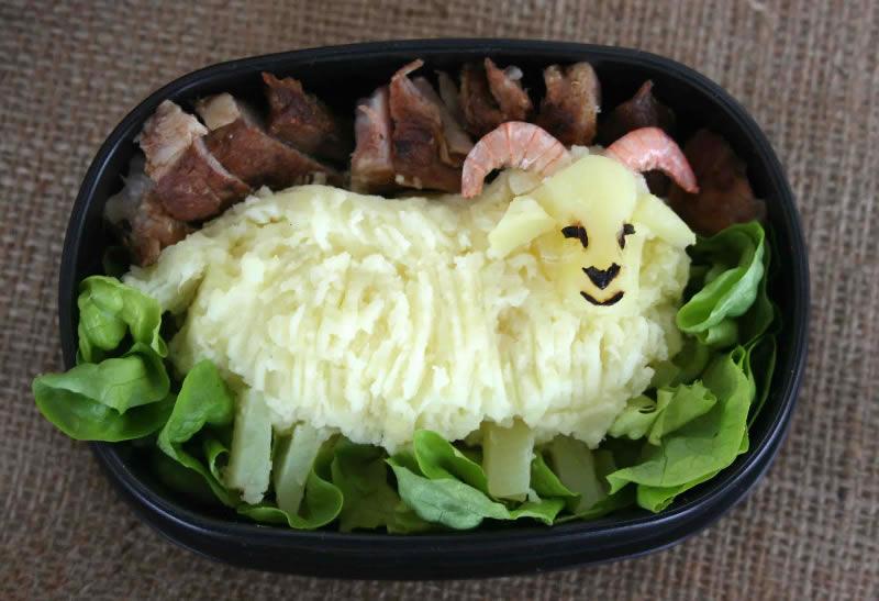 салаты на новый год в виде овечки фото