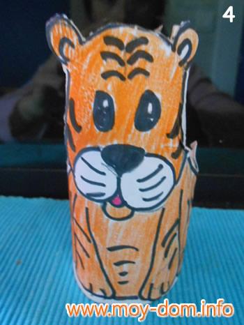 Как из бумаги сделать тигра фото 285