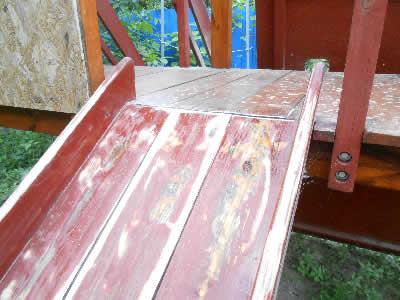 ремонт деревянной горки