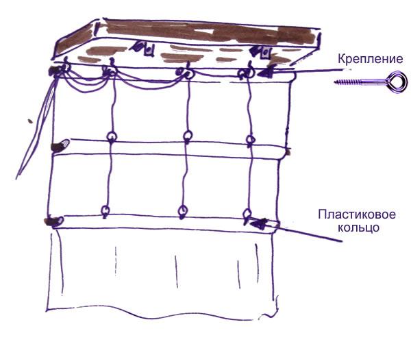 Механизм римские шторы своими руками 5